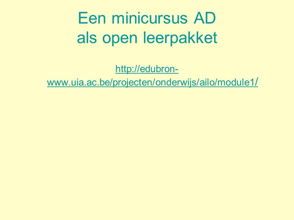 Een minicursus AD als open leerpakket