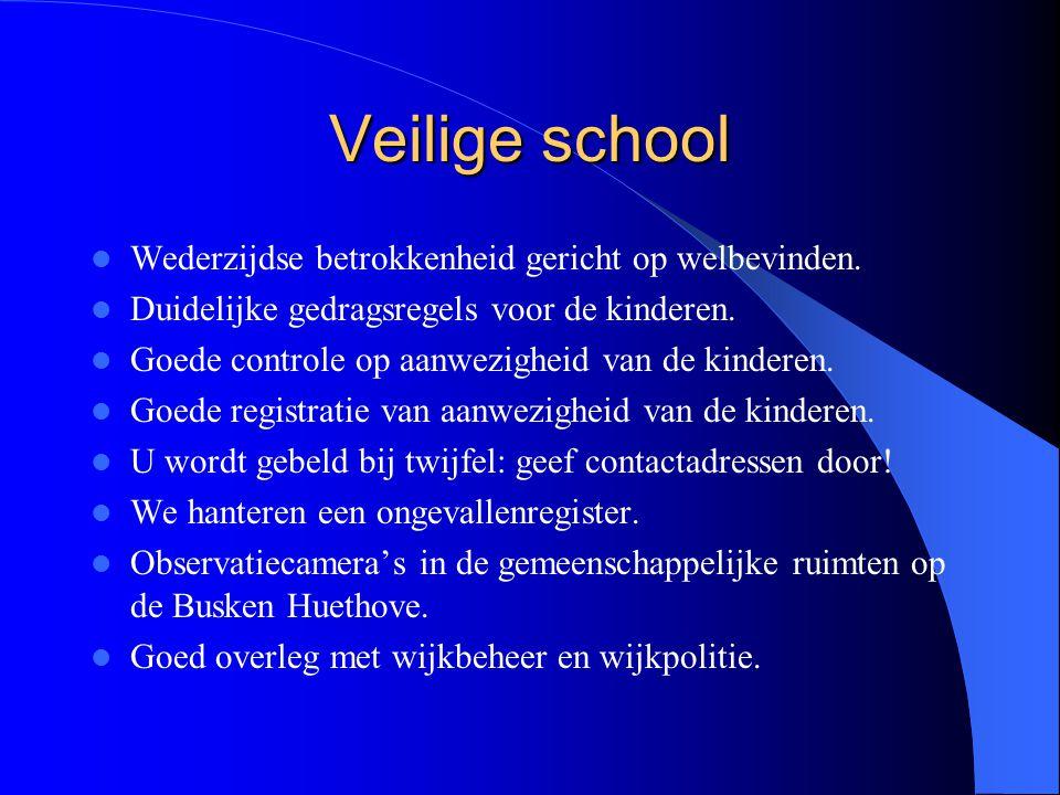 Veilige school Wederzijdse betrokkenheid gericht op welbevinden.