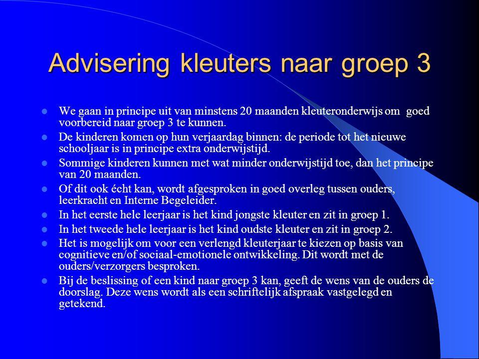 Advisering kleuters naar groep 3