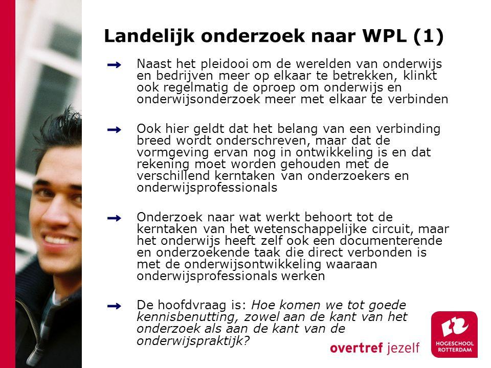 Landelijk onderzoek naar WPL (1)