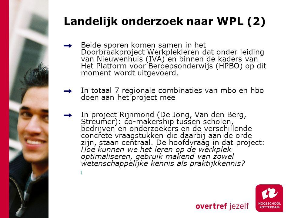 Landelijk onderzoek naar WPL (2)