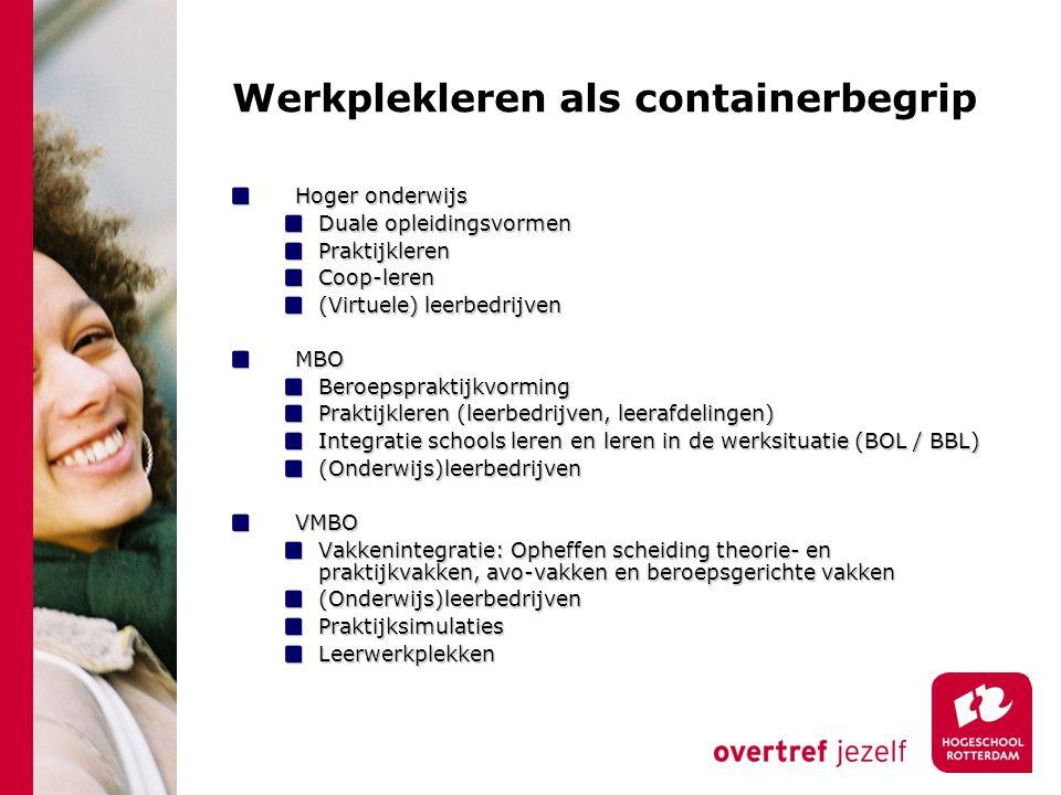Werkplekleren als containerbegrip