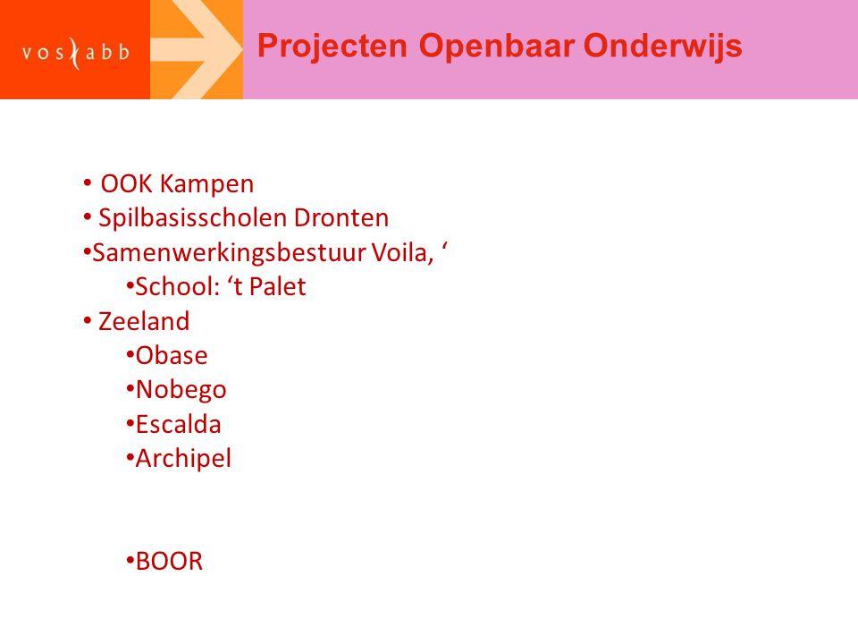 Projecten Openbaar Onderwijs