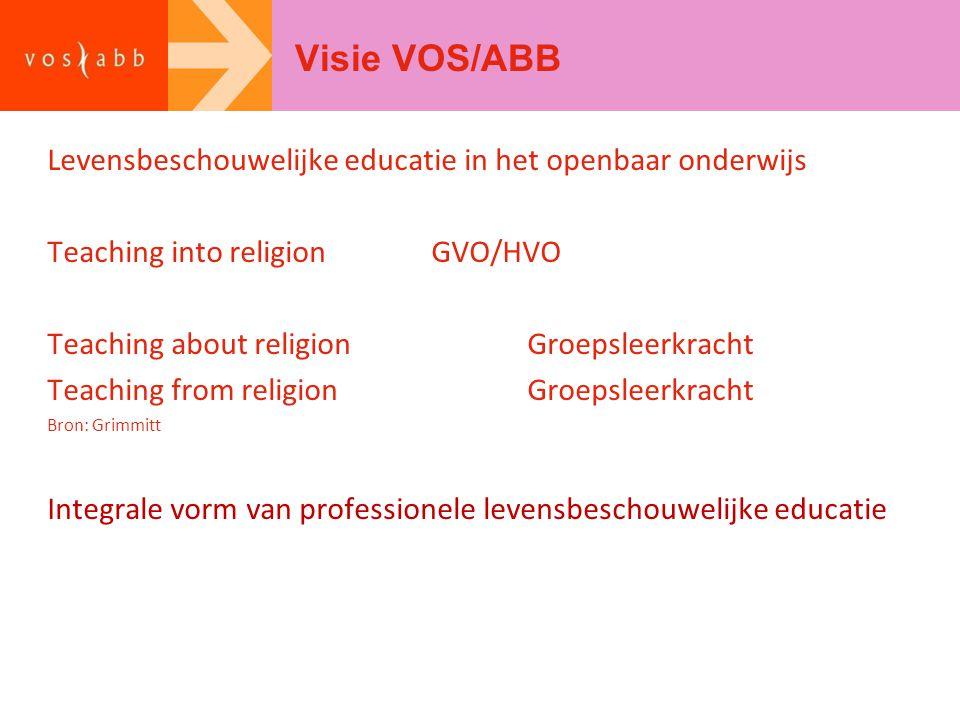 Visie VOS/ABB Levensbeschouwelijke educatie in het openbaar onderwijs