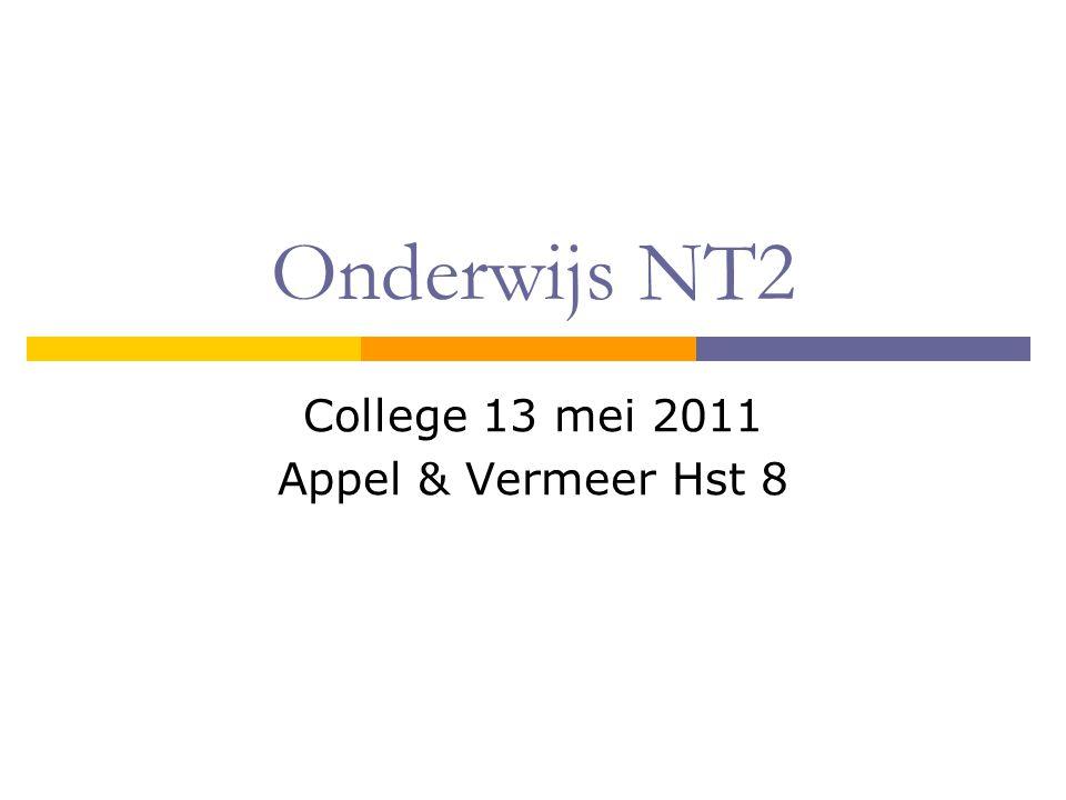 College 13 mei 2011 Appel & Vermeer Hst 8