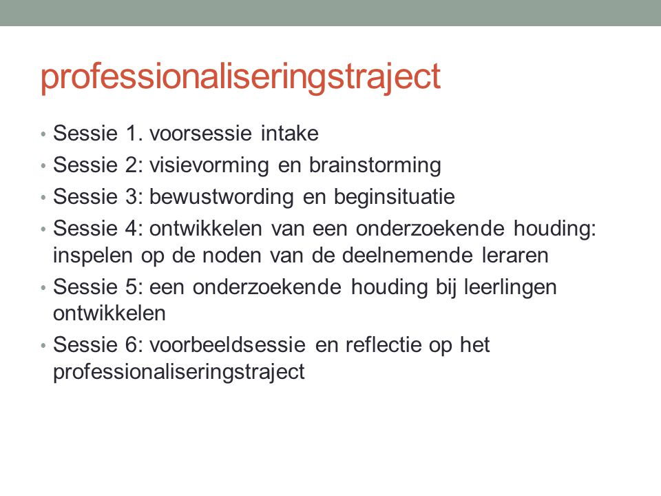 professionaliseringstraject