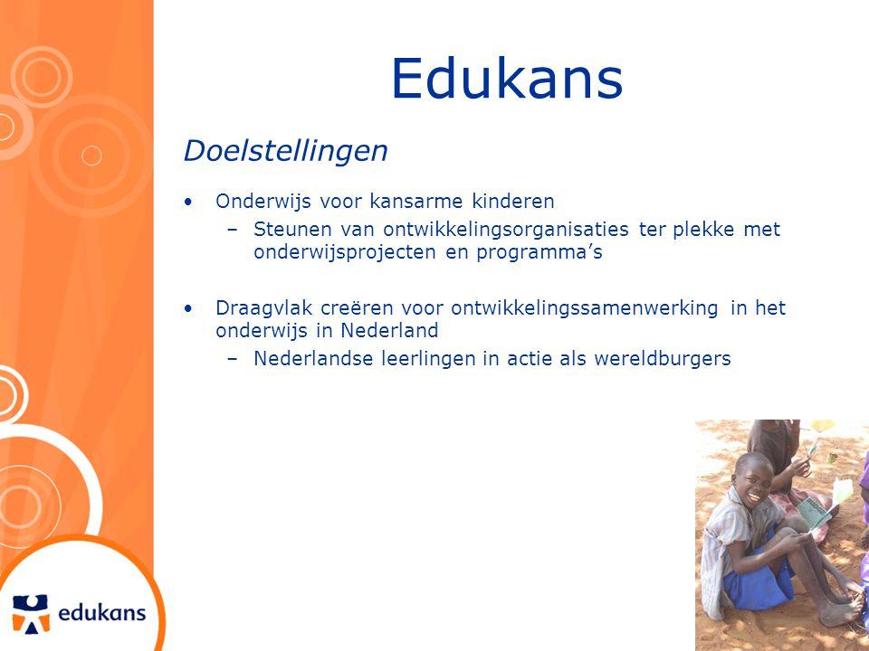 Edukans Doelstellingen Onderwijs voor kansarme kinderen