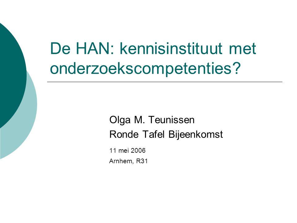 De HAN: kennisinstituut met onderzoekscompetenties