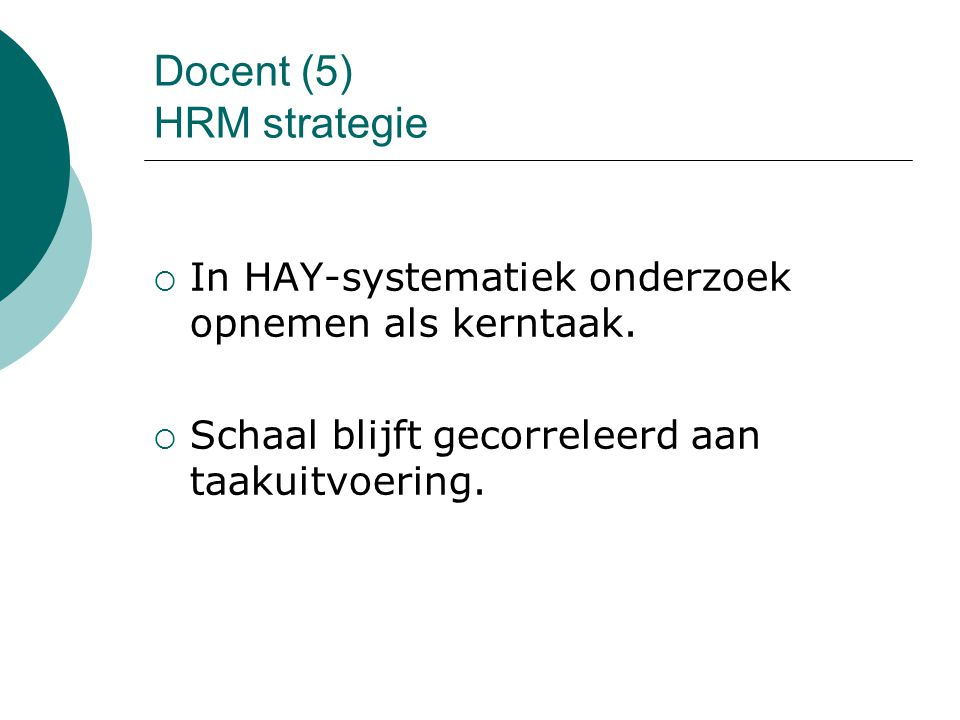 Docent (5) HRM strategie
