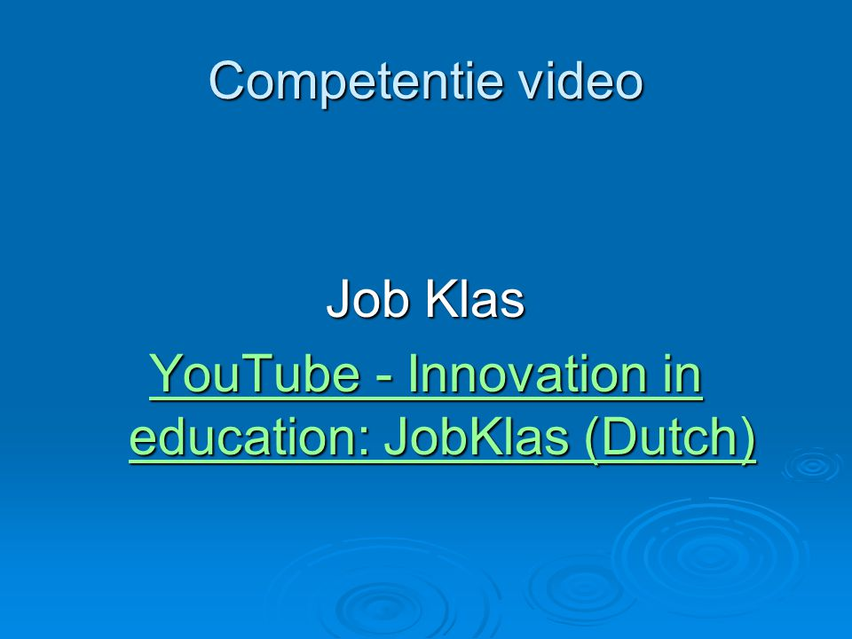 YouTube - Innovation in education: JobKlas (Dutch)
