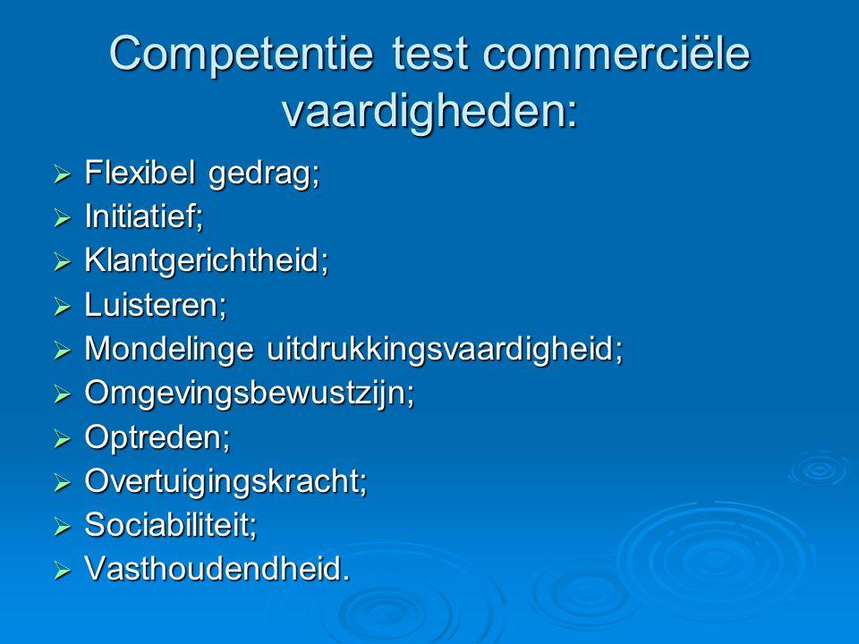 Competentie test commerciële vaardigheden: