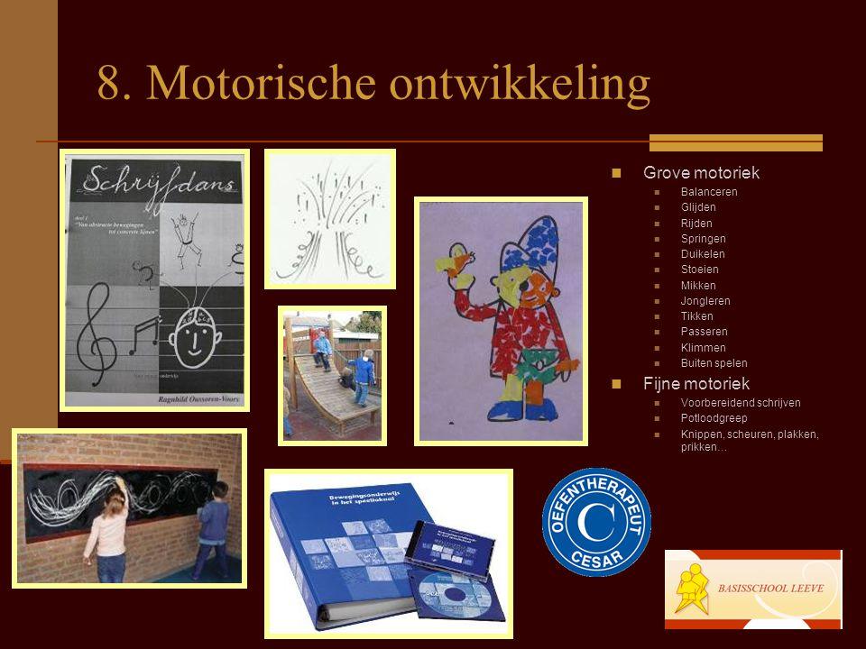 8. Motorische ontwikkeling