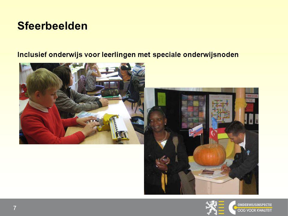 Sfeerbeelden Inclusief onderwijs voor leerlingen met speciale onderwijsnoden