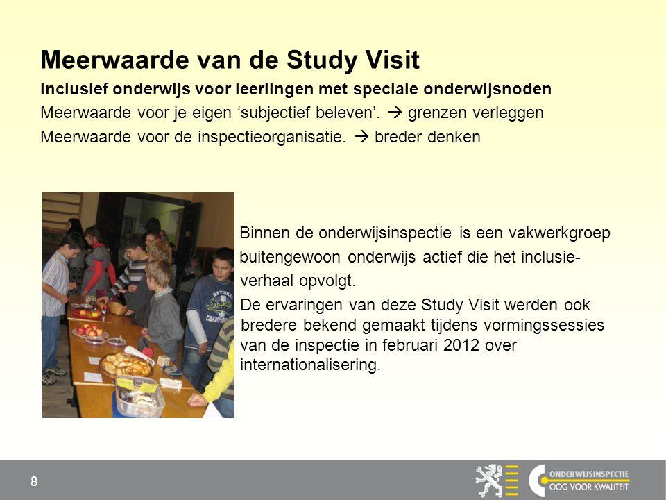 Meerwaarde van de Study Visit