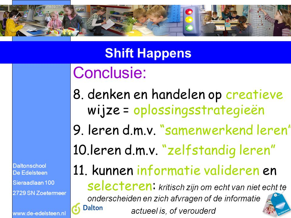 Conclusie: Shift Happens