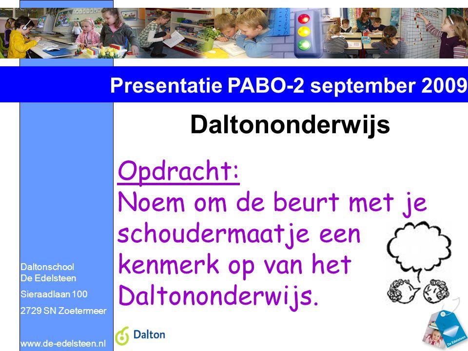 Presentatie PABO-2 september 2009