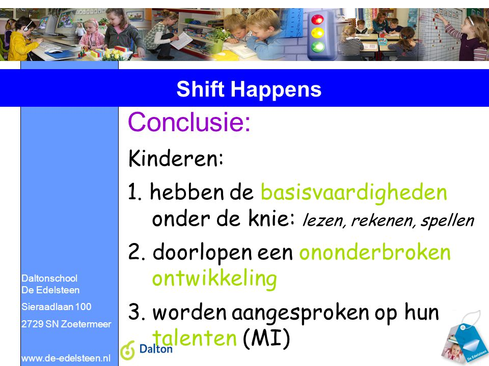 Conclusie: Shift Happens Kinderen: