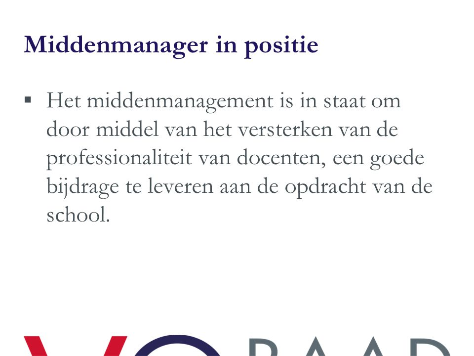 Middenmanager in positie