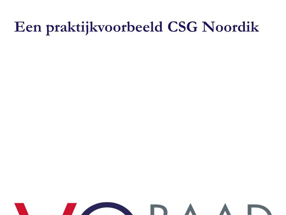 Een praktijkvoorbeeld CSG Noordik