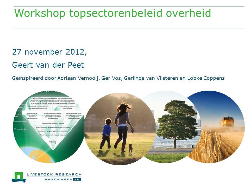 Workshop topsectorenbeleid overheid
