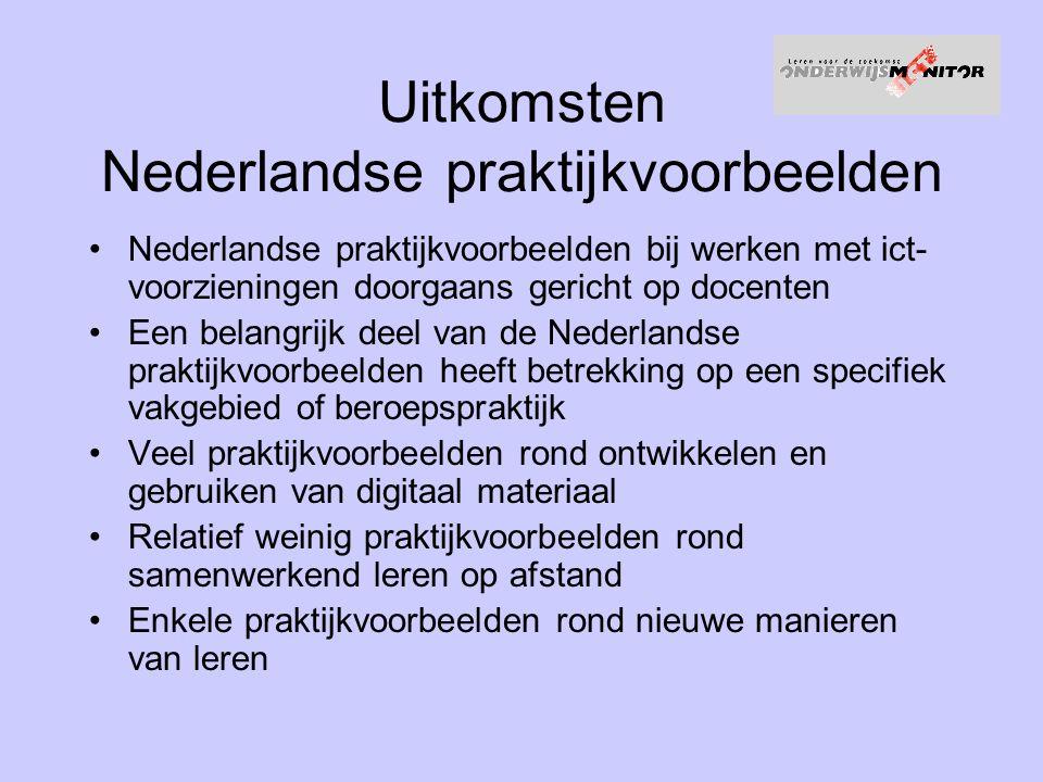Uitkomsten Nederlandse praktijkvoorbeelden