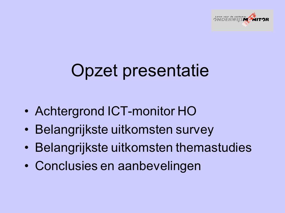 Opzet presentatie Achtergrond ICT-monitor HO