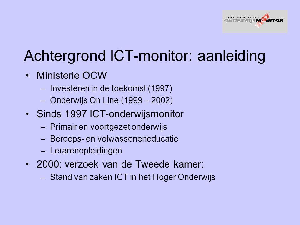 Achtergrond ICT-monitor: aanleiding