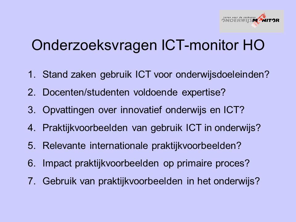 Onderzoeksvragen ICT-monitor HO