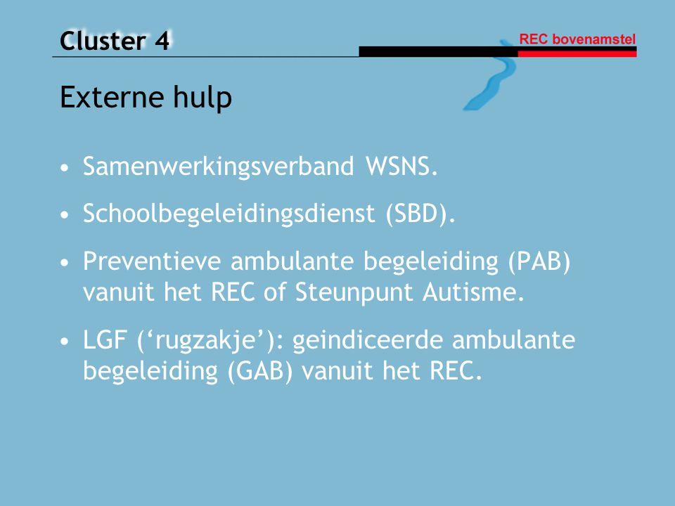 Externe hulp Samenwerkingsverband WSNS.