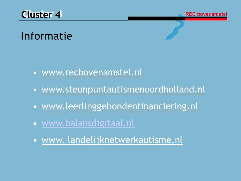 Informatie www.recbovenamstel.nl www.steunpuntautismenoordholland.nl