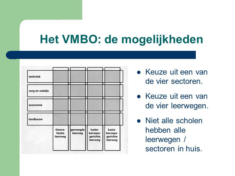 Het VMBO: de mogelijkheden