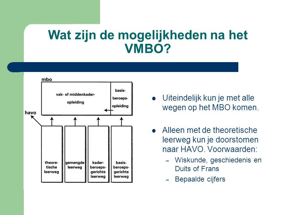 Wat zijn de mogelijkheden na het VMBO
