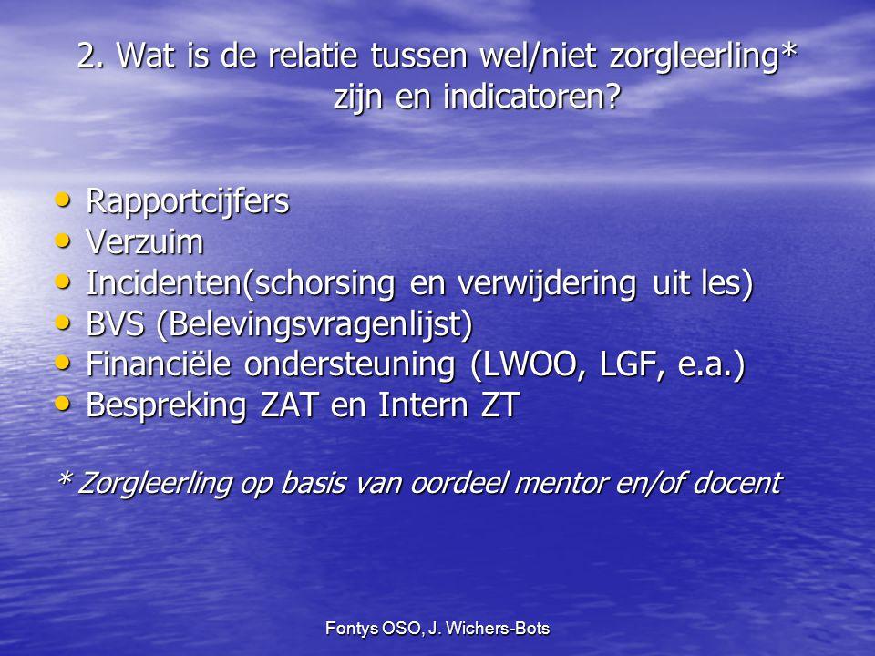 Fontys OSO, J. Wichers-Bots