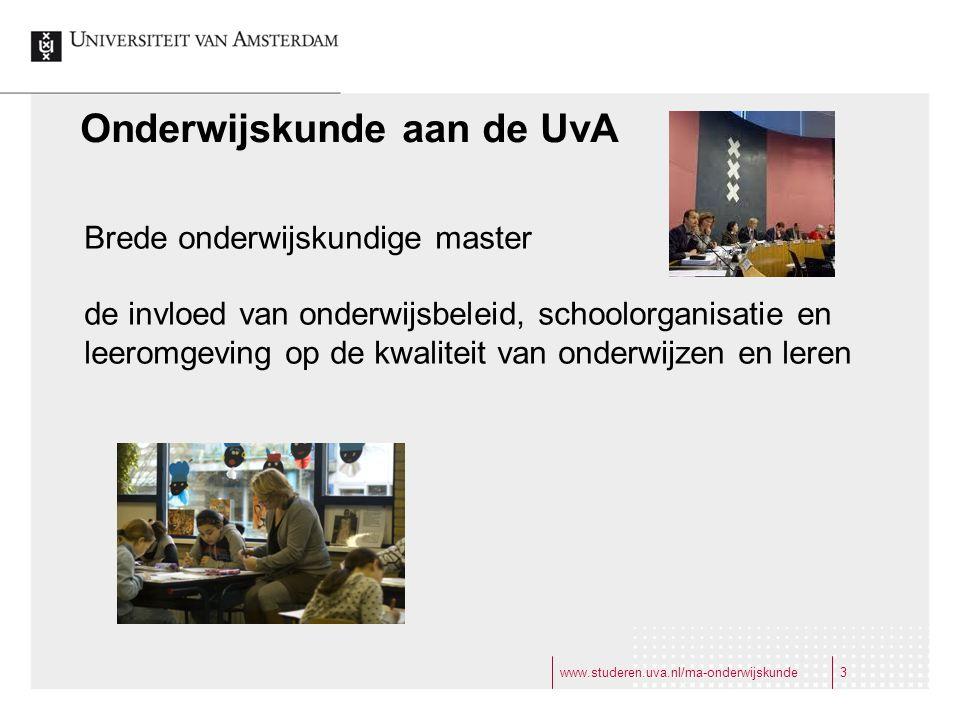 Onderwijskunde aan de UvA