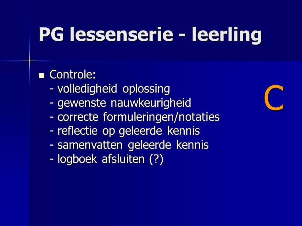 PG lessenserie - leerling