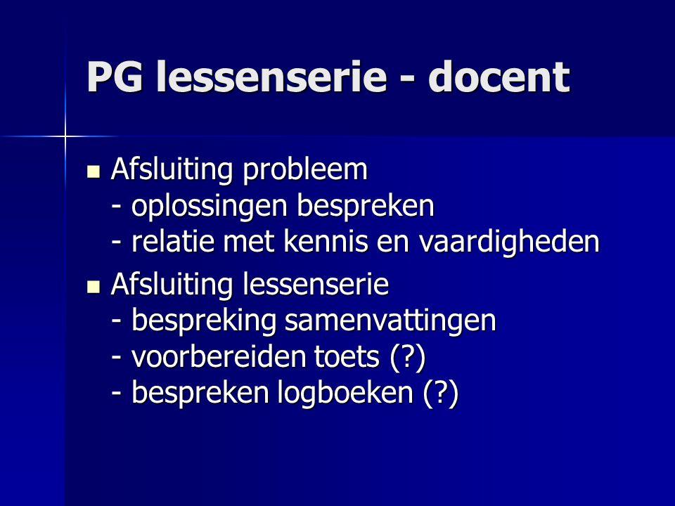 PG lessenserie - docent