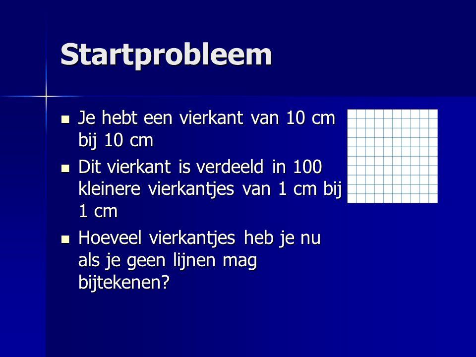 Startprobleem Je hebt een vierkant van 10 cm bij 10 cm