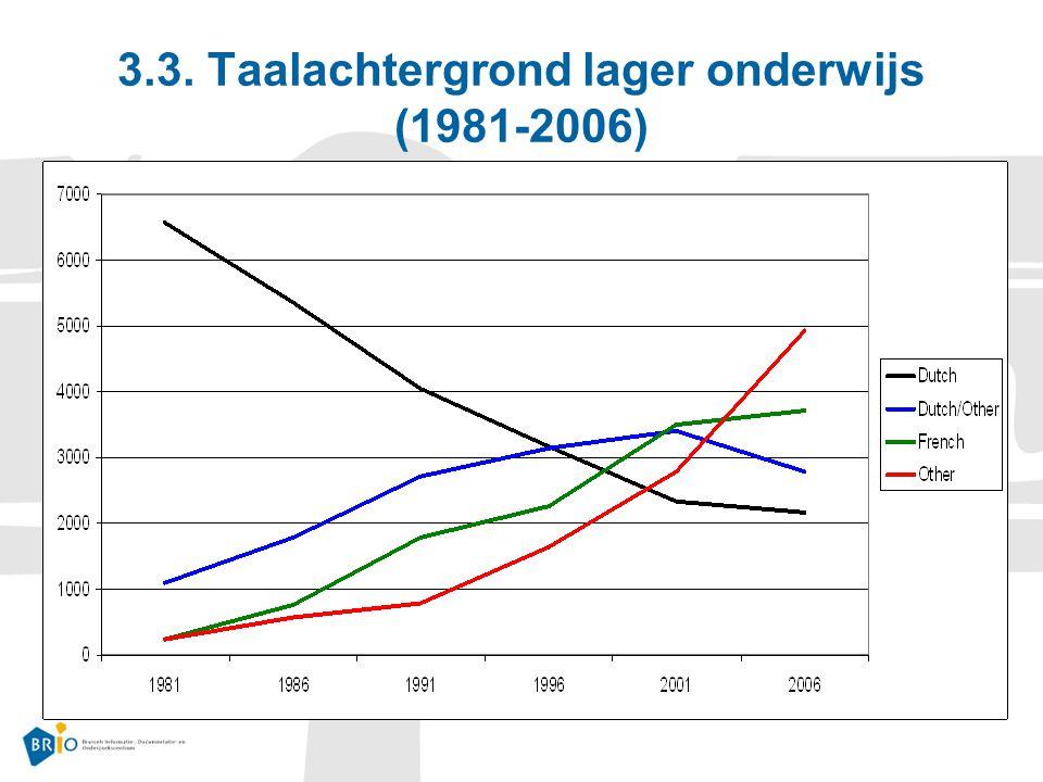 3.3. Taalachtergrond lager onderwijs (1981-2006)