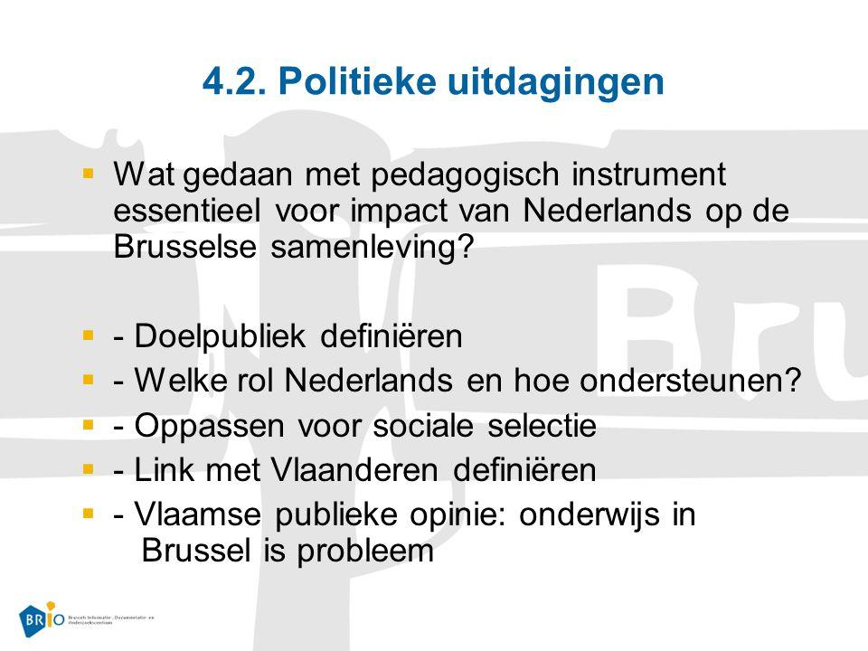 4.2. Politieke uitdagingen