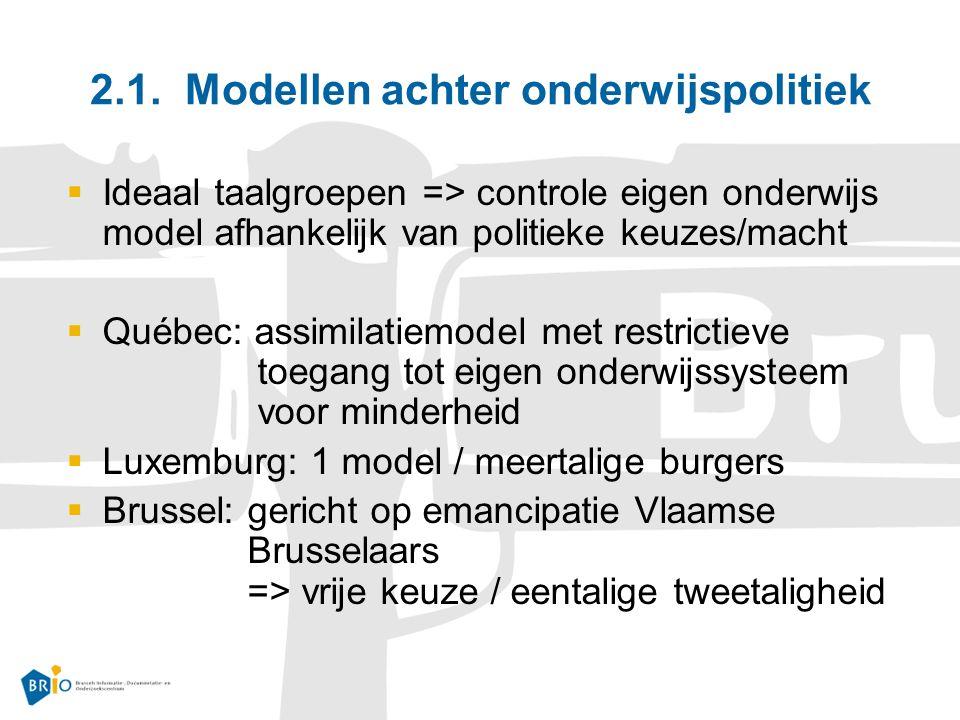 2.1. Modellen achter onderwijspolitiek