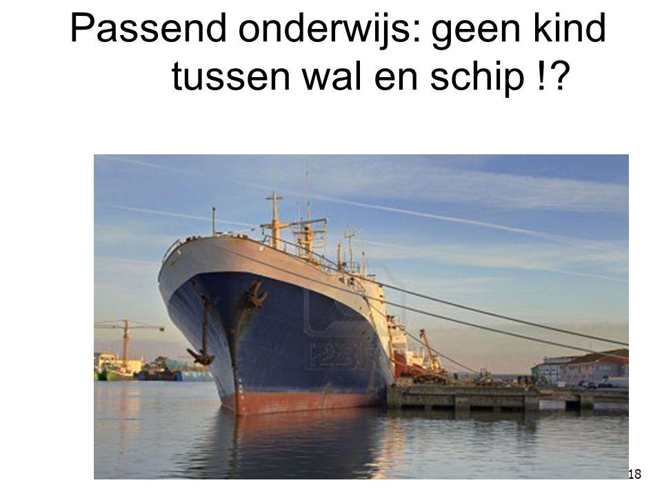Passend onderwijs: geen kind tussen wal en schip !
