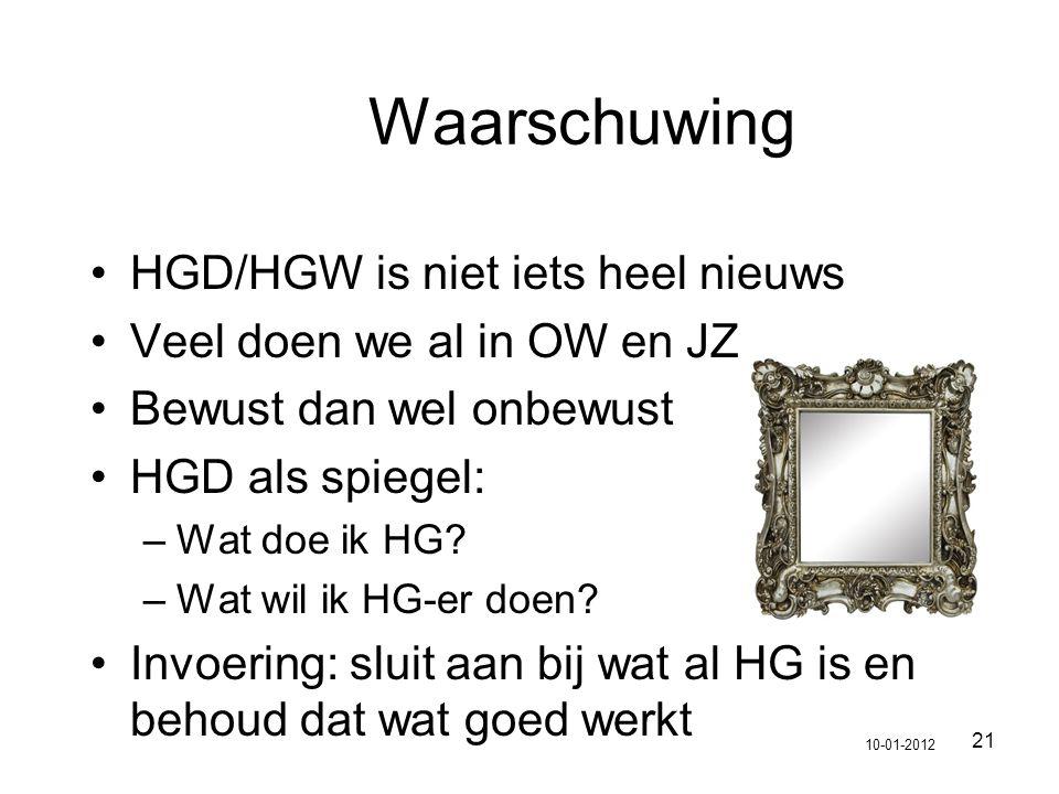 Waarschuwing HGD/HGW is niet iets heel nieuws