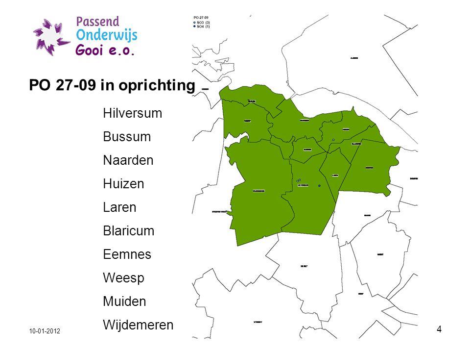 PO 27-09 in oprichting Hilversum Bussum Naarden Huizen Laren Blaricum