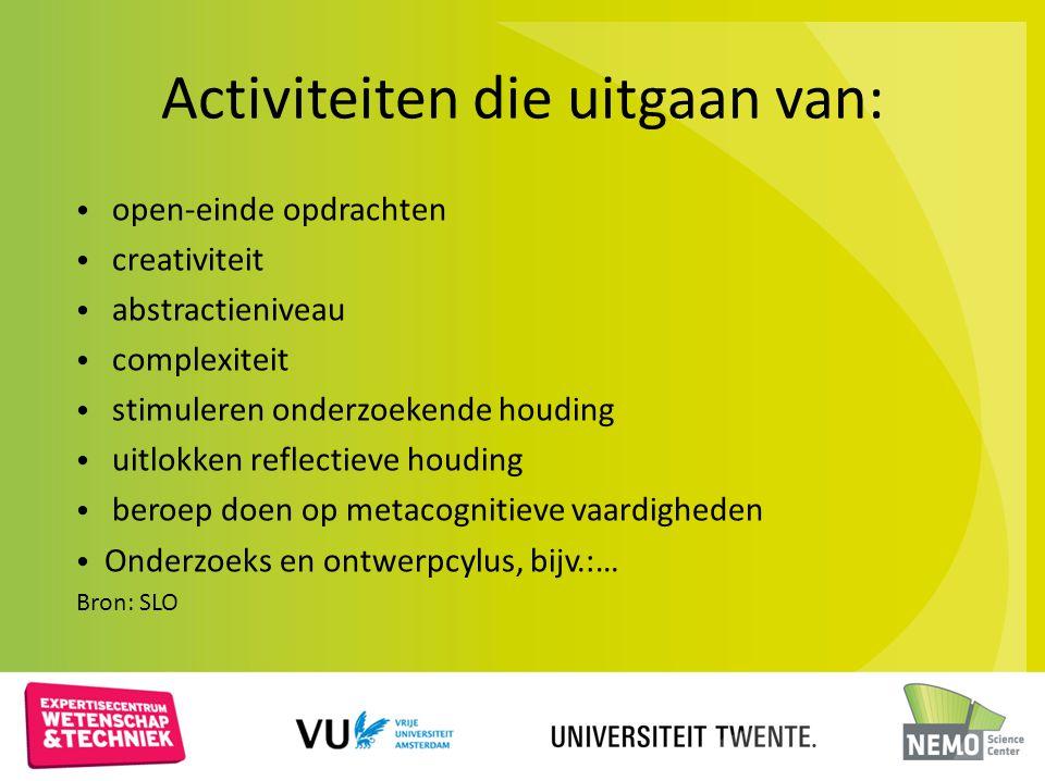 Activiteiten die uitgaan van:
