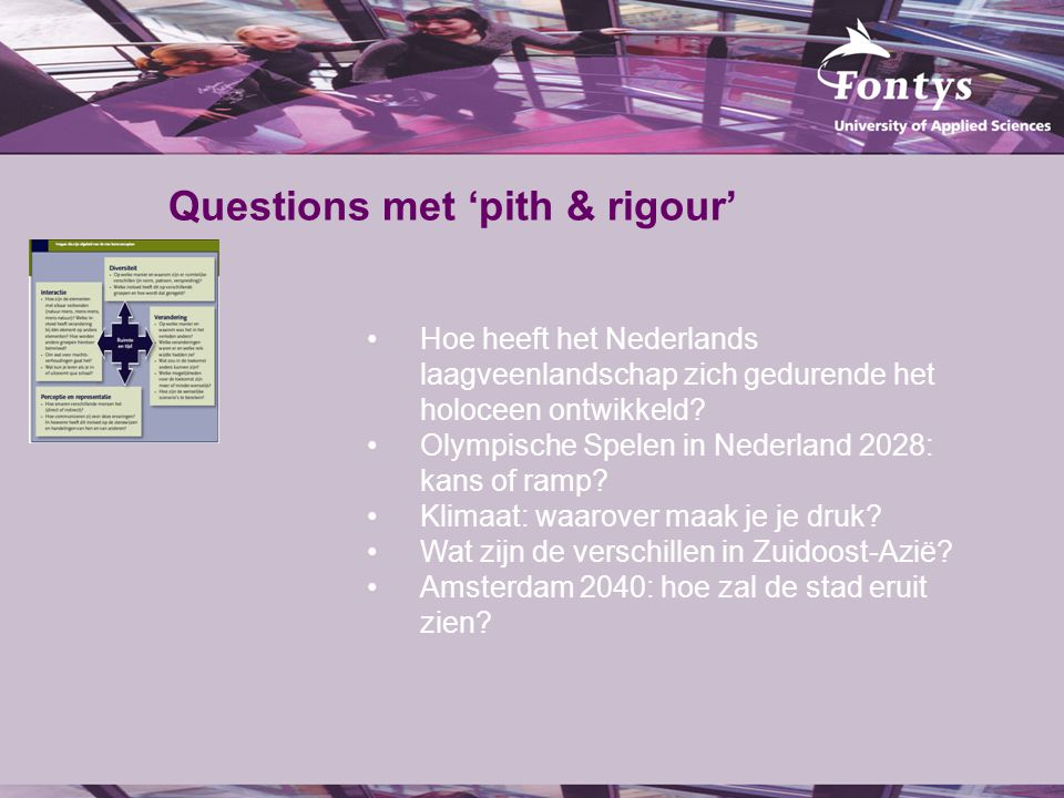 Questions met 'pith & rigour'
