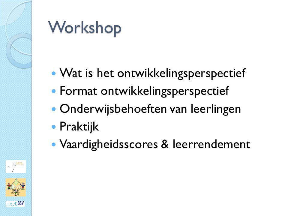 Workshop Wat is het ontwikkelingsperspectief