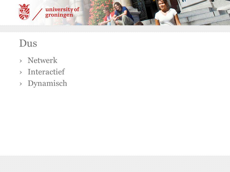 Dus Netwerk Interactief Dynamisch