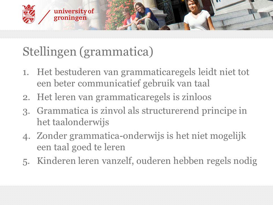 Stellingen (grammatica)