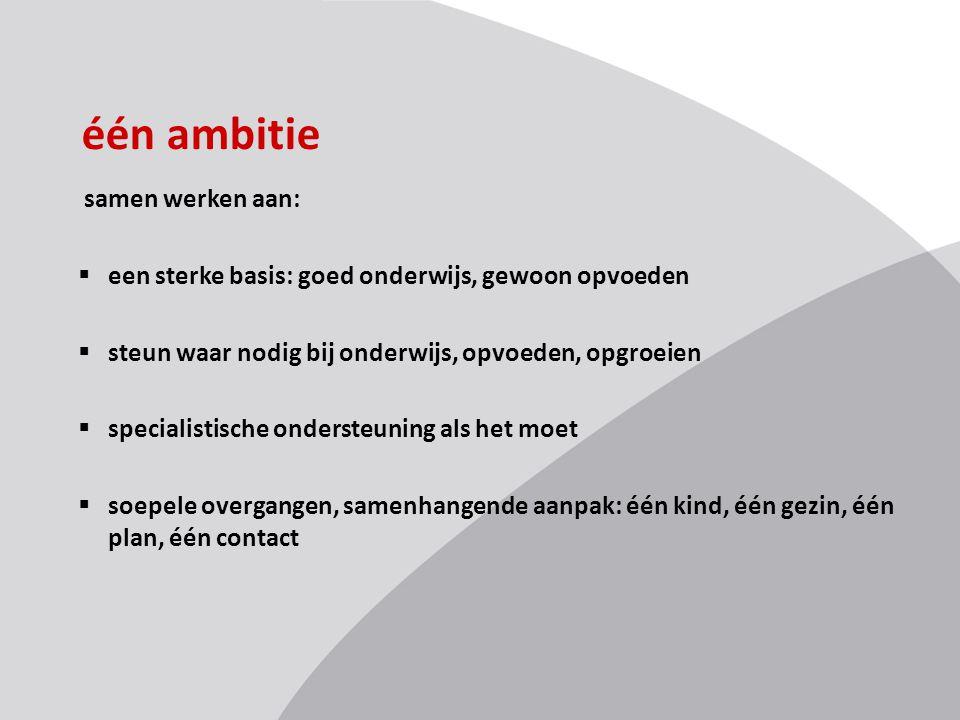 één ambitie samen werken aan: