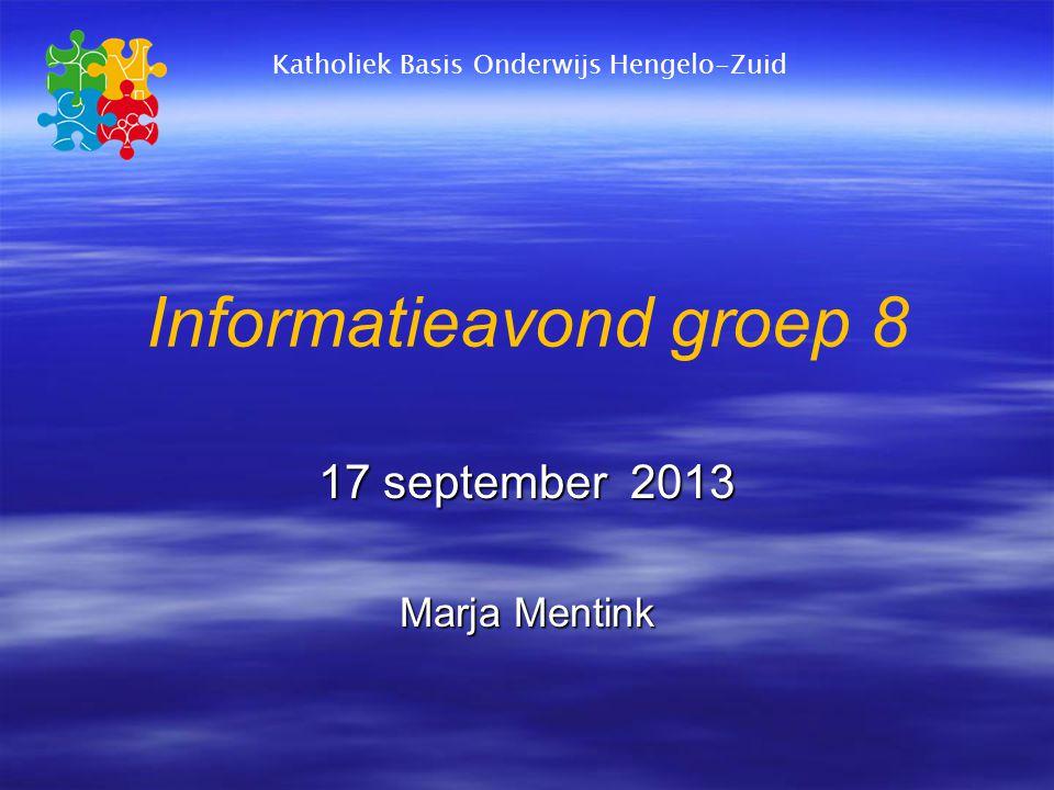 Informatieavond groep 8